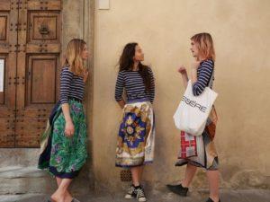 gonne foulard seta donna essere atelier negozio di moda abiti personalizzati firenze
