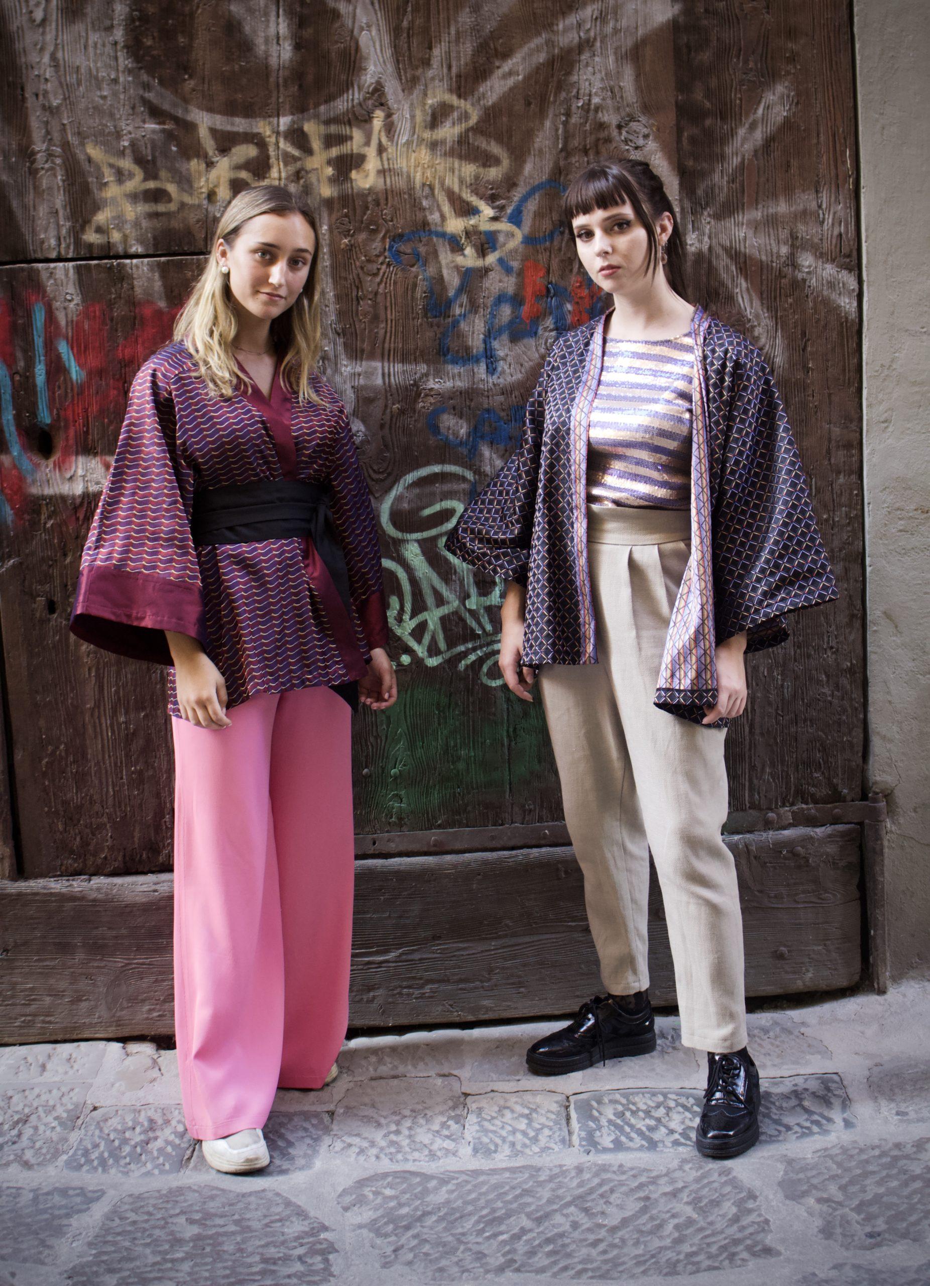 kimono corto fantasia donna essere atelier negozio di moda abiti personalizzati firenze