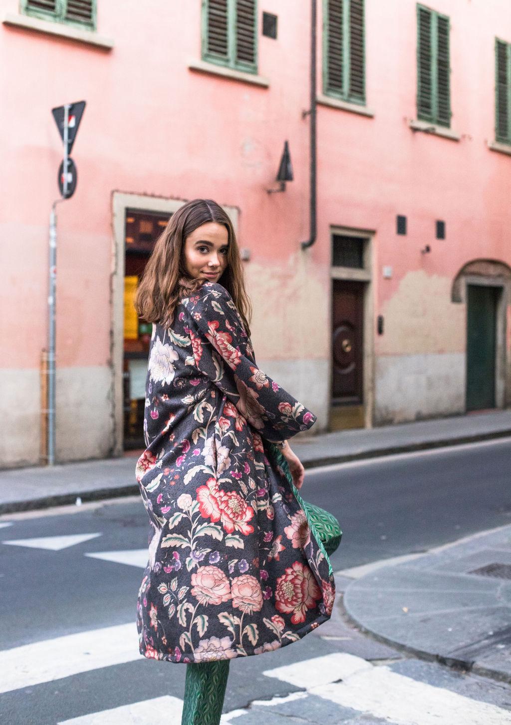 kimono donna floreale essere atelier negozio di moda abiti personalizzati firenze