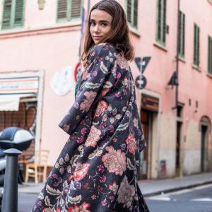 kimono lungo seta floreale donna essere atelier negozio di moda abiti personalizzati firenze