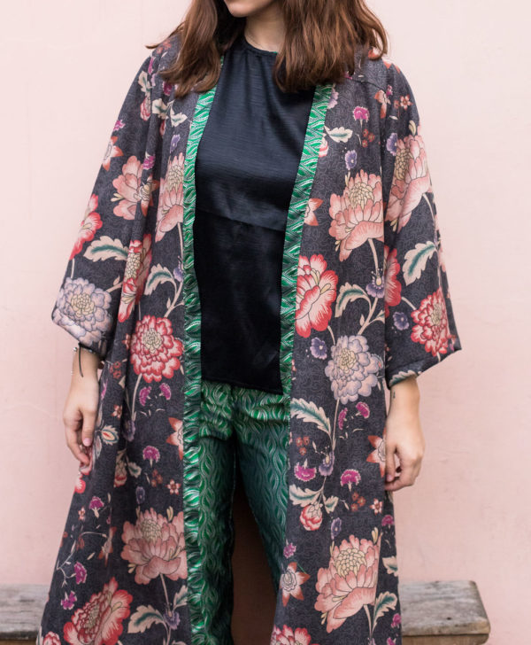 kimono lungo floreale donna essere atelier negozio di moda abiti personalizzati firenze