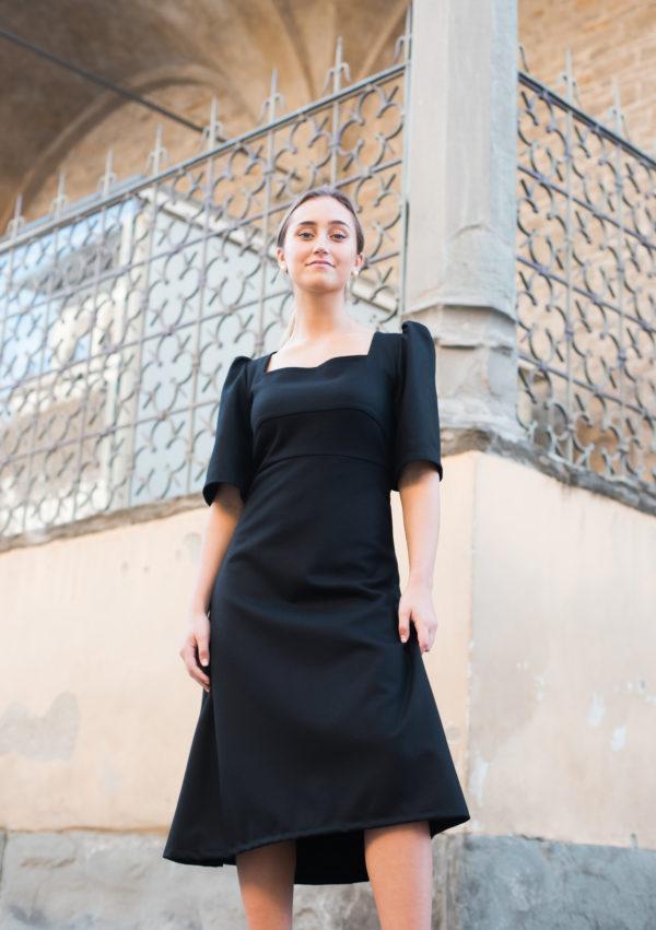 tubino nero donna longuette essere atelier negozio di moda abiti personalizzati firenze
